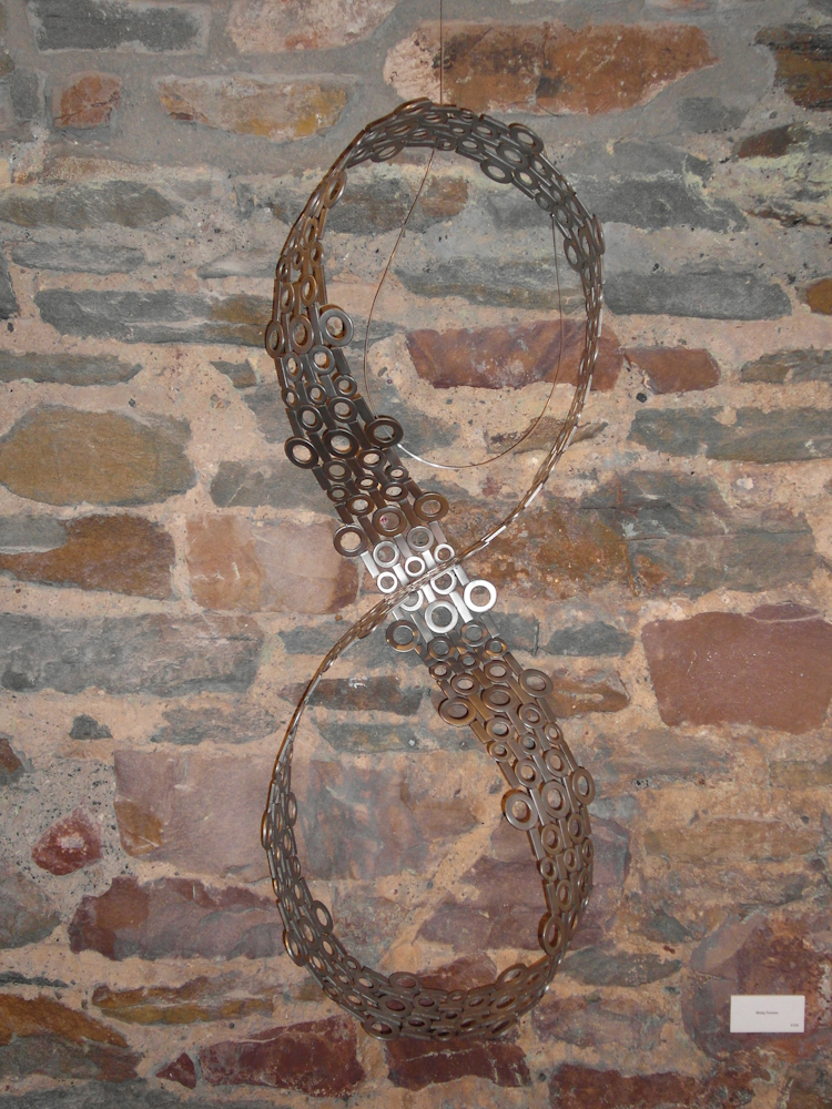 Abstract mobius loop stainless steel metal wall art sculpture - Mobi Forever 2012