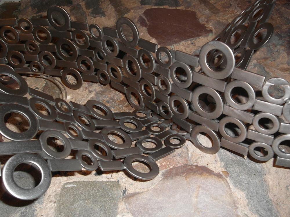 Abstract mobius loop stainless steel metal wall art sculpture - Mobi Forever 2012