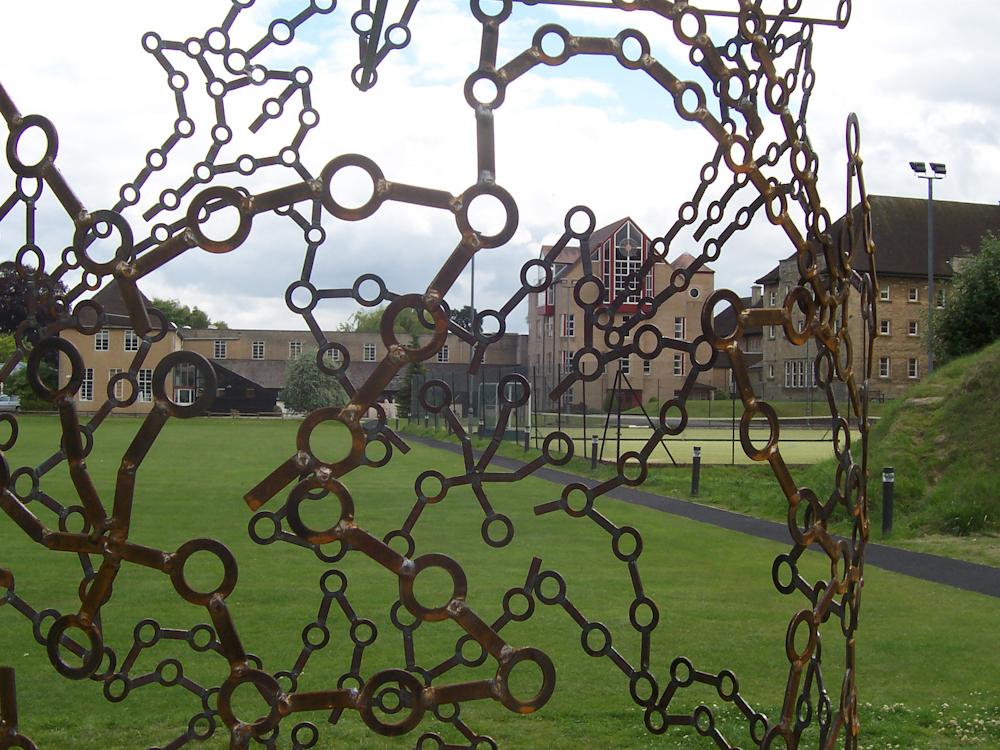 Large abstract metal garden sculpture - Ascent 2009
