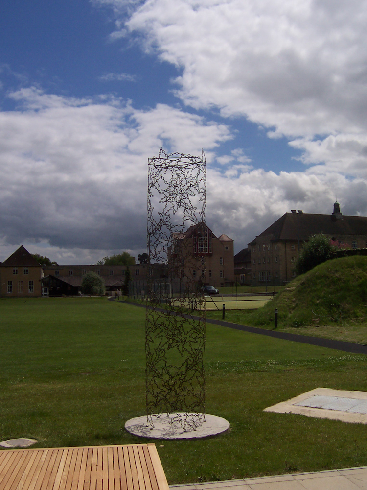 Large abstract metal garden sculpture - Ascent 2009