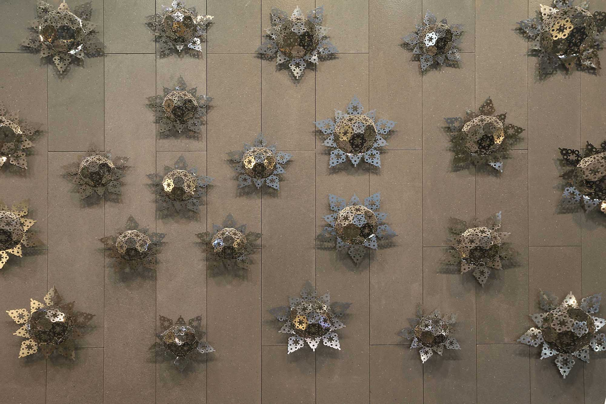 Laser cut stainless steel metal wall art sculpture - Origins 2013