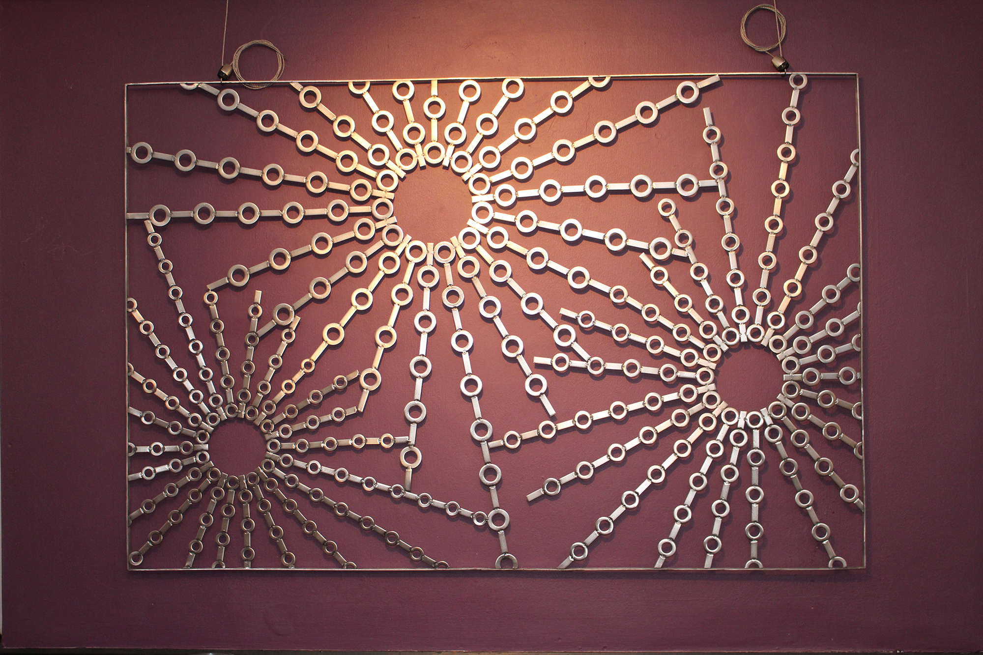 Stainless steel metal wall art abstract sculpture - Multiples Suns 2016